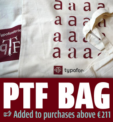 A Typofonderie bag for Christmas!