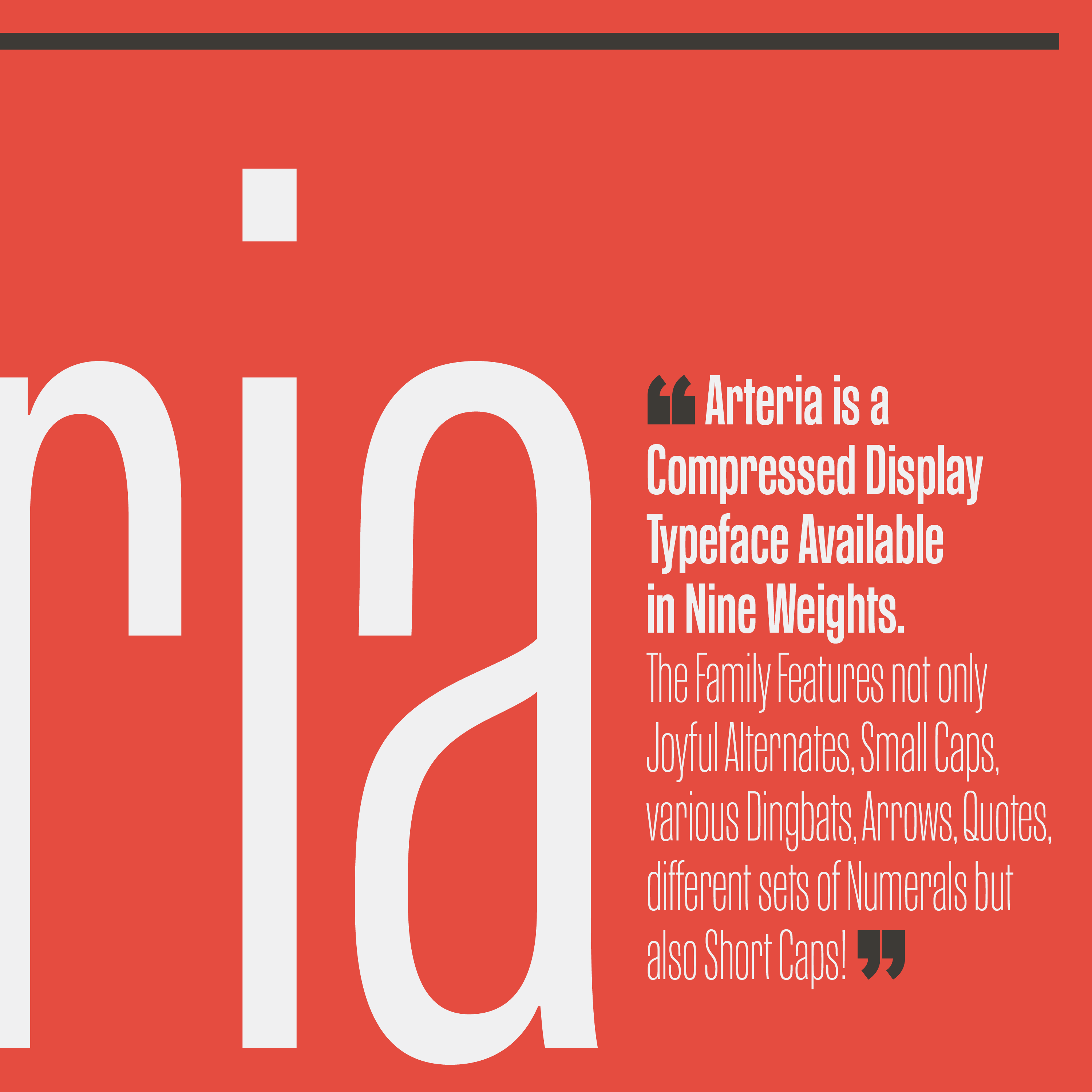 Arteria, inspired by Italian shop signs & woodtype tradition