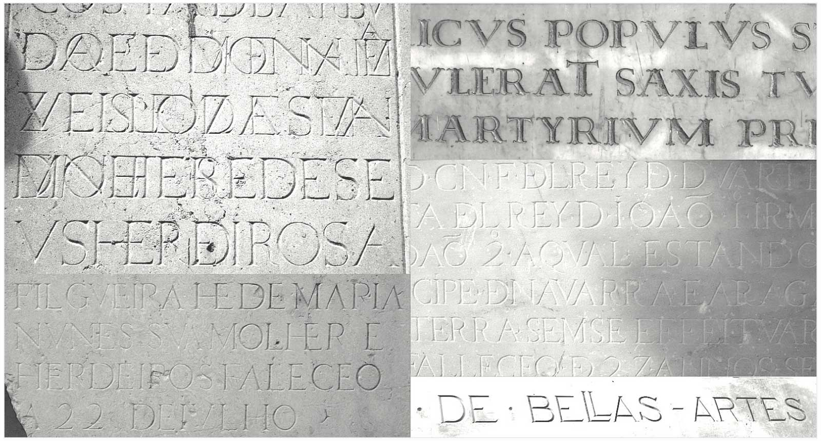 Multi-ligatured capital settings of Le Monde Livre Classic emulate Renaissance inscriptions, hand draws letters found in Italy, Spain and Portugal.