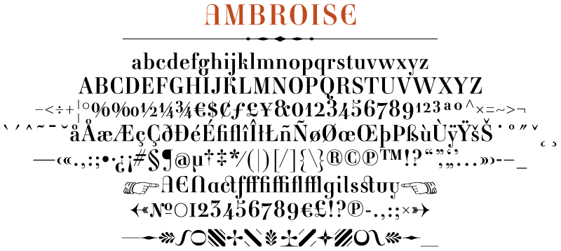 Ambroise typeface in details — Typofonderie