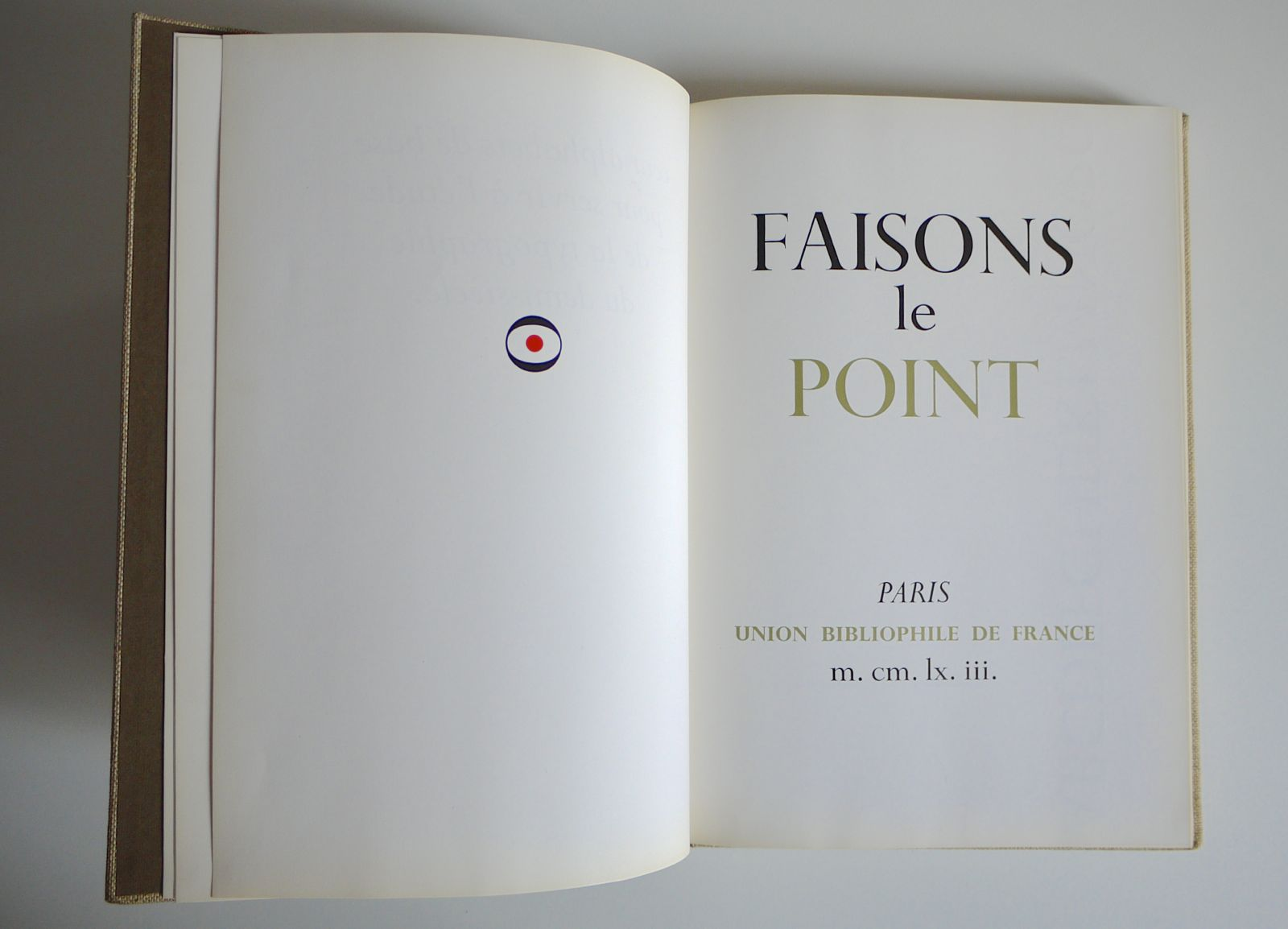 Maximilien Vox Typographer - Faisons le point, Monotype