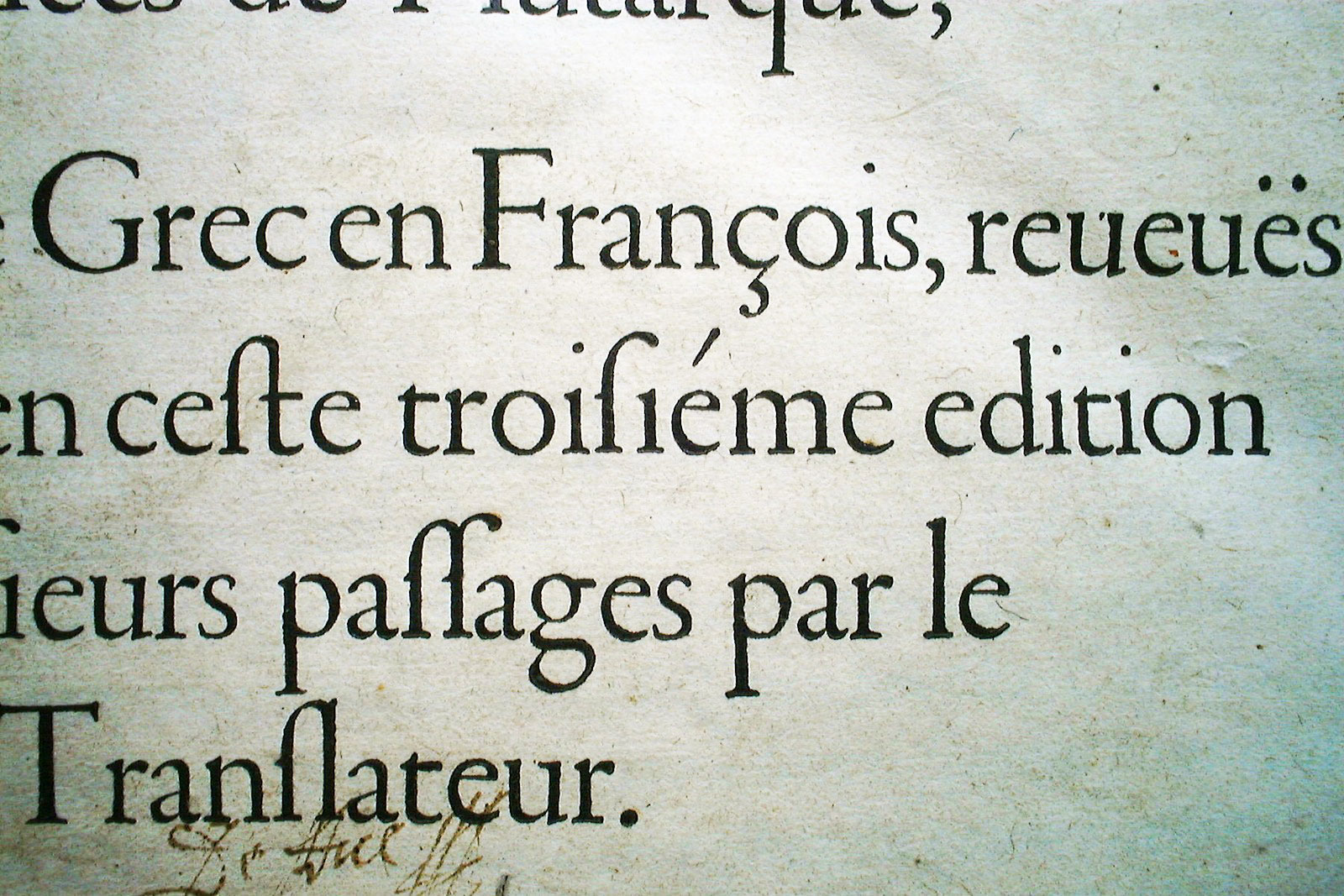 Garamond typeface used on Robert Estienne book