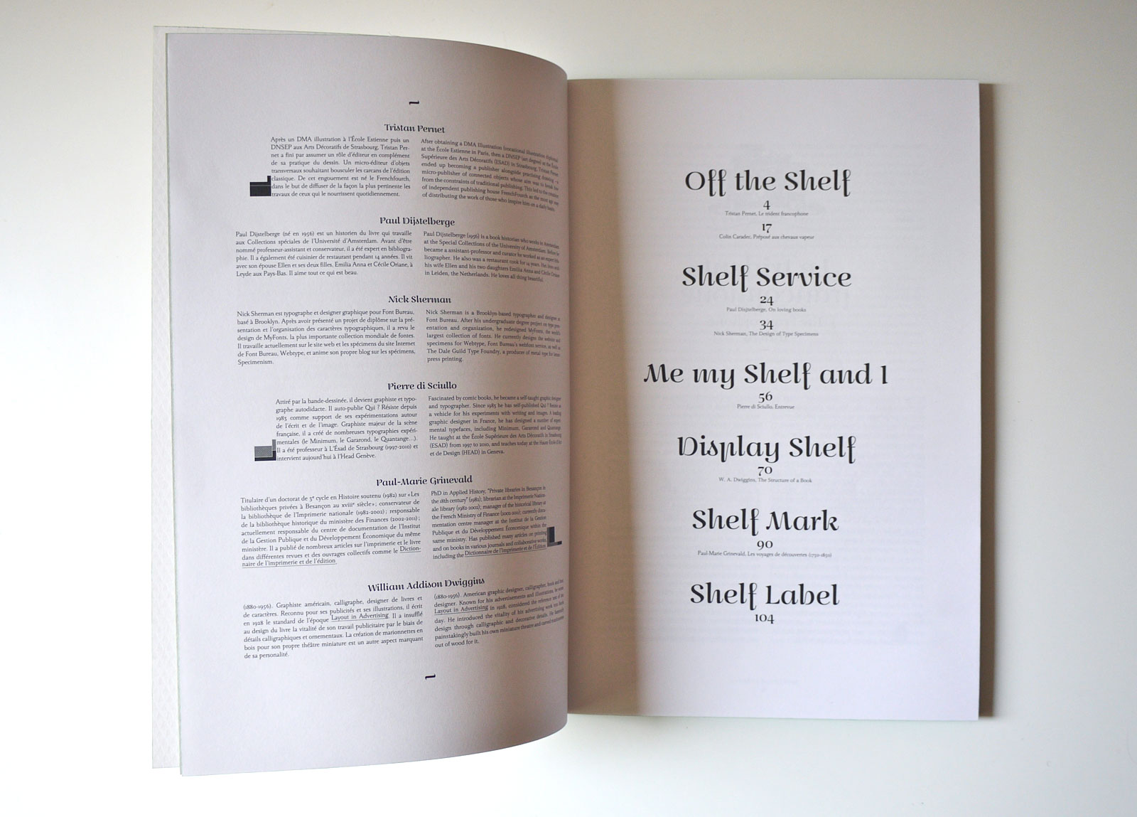 The Shelf Journal contents