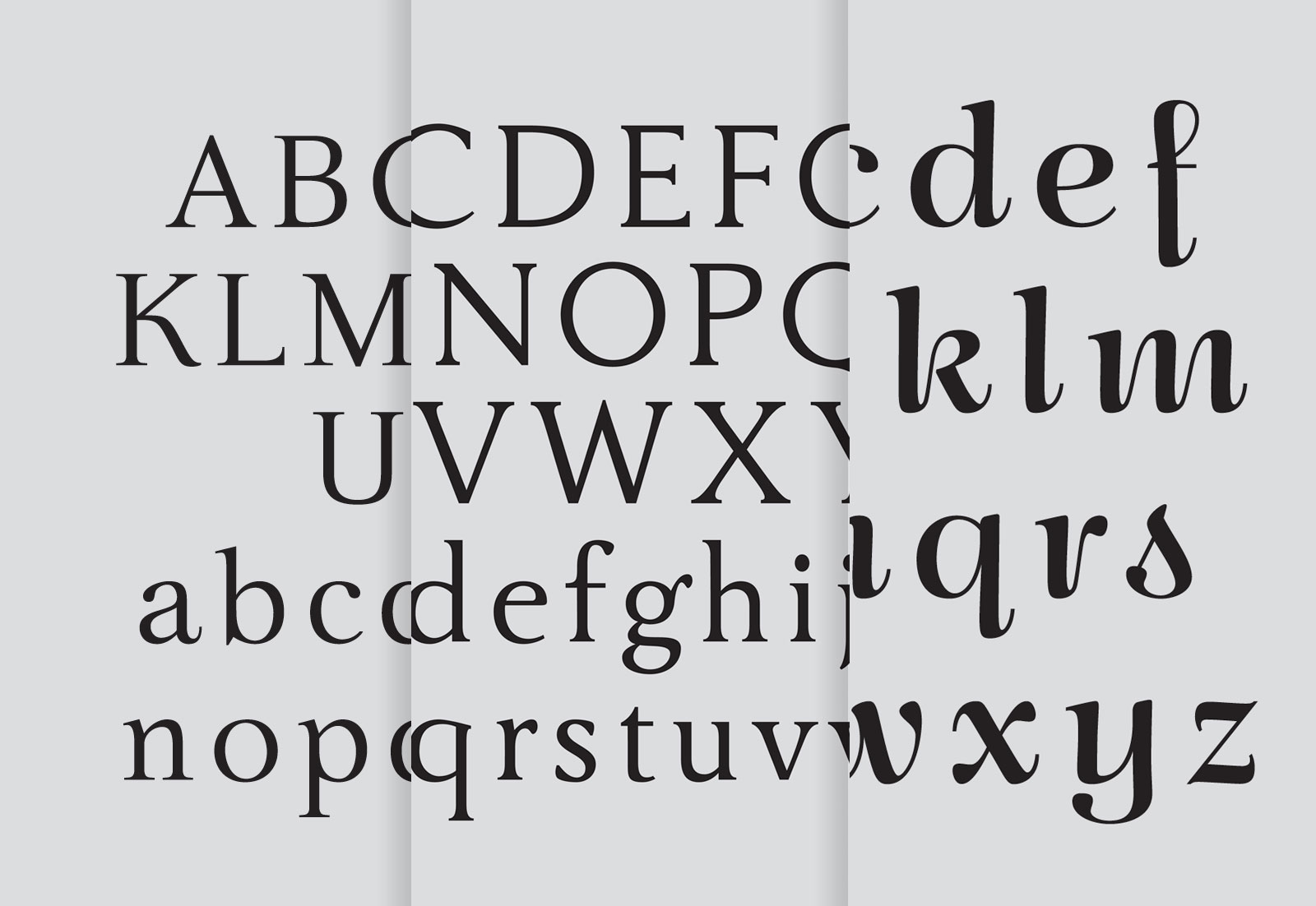 Morgane Rebulard's The Polyglot, Le Polyglotte and Mabel typefaces