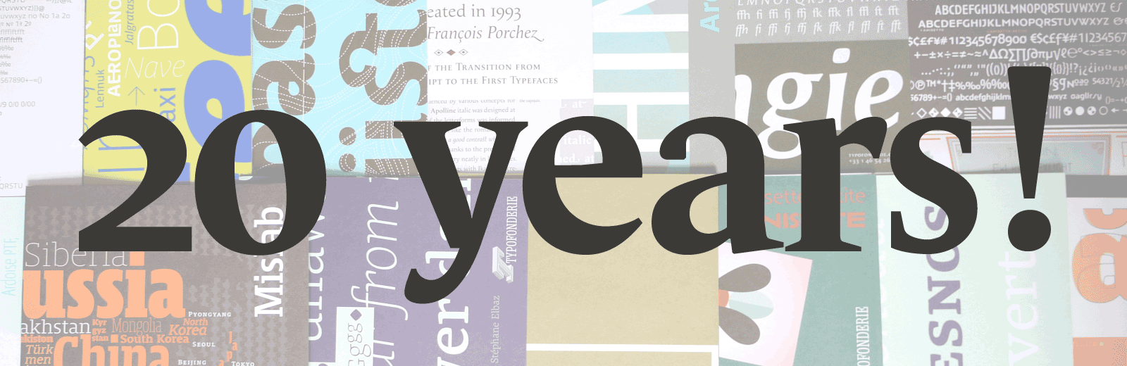 The Typofonderie type specimen collection