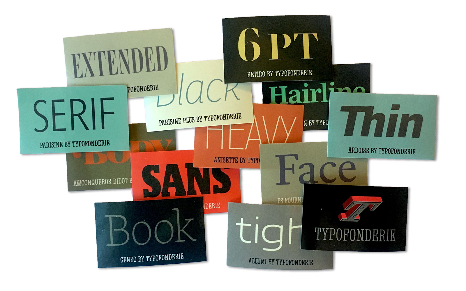 Typofonderie stickers