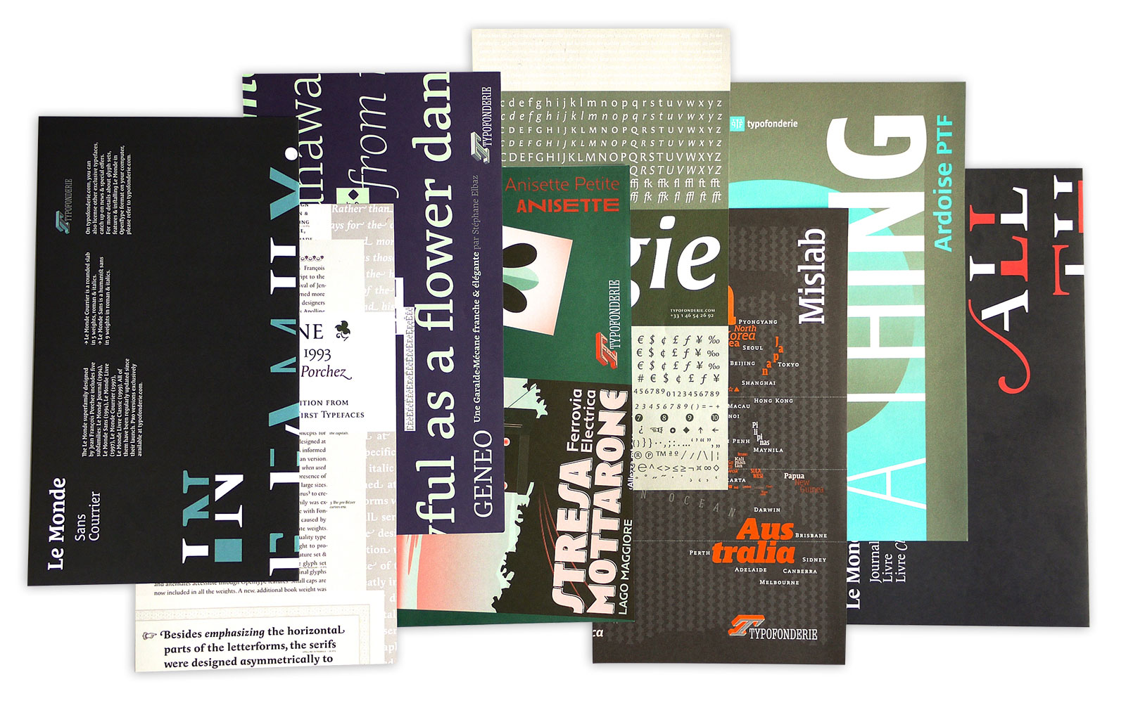 typofonderie printed specimens