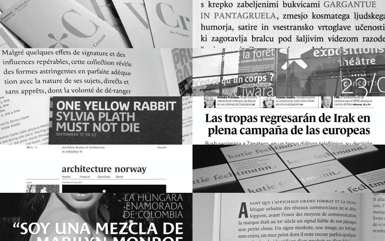 Typofonderie typefaces in use