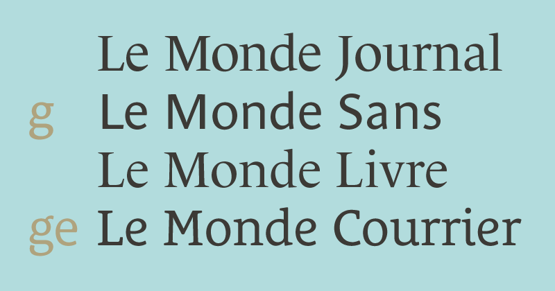 Le Monde extended font family