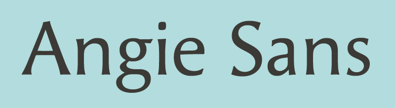 Angie Sans relaunched in 2012 by Typofonderie