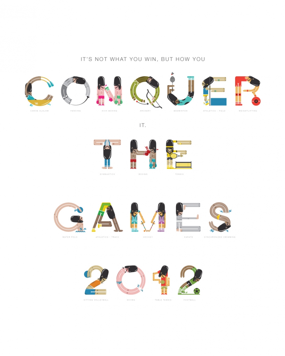 Typographic Games winning poster made by Graeme Gauld