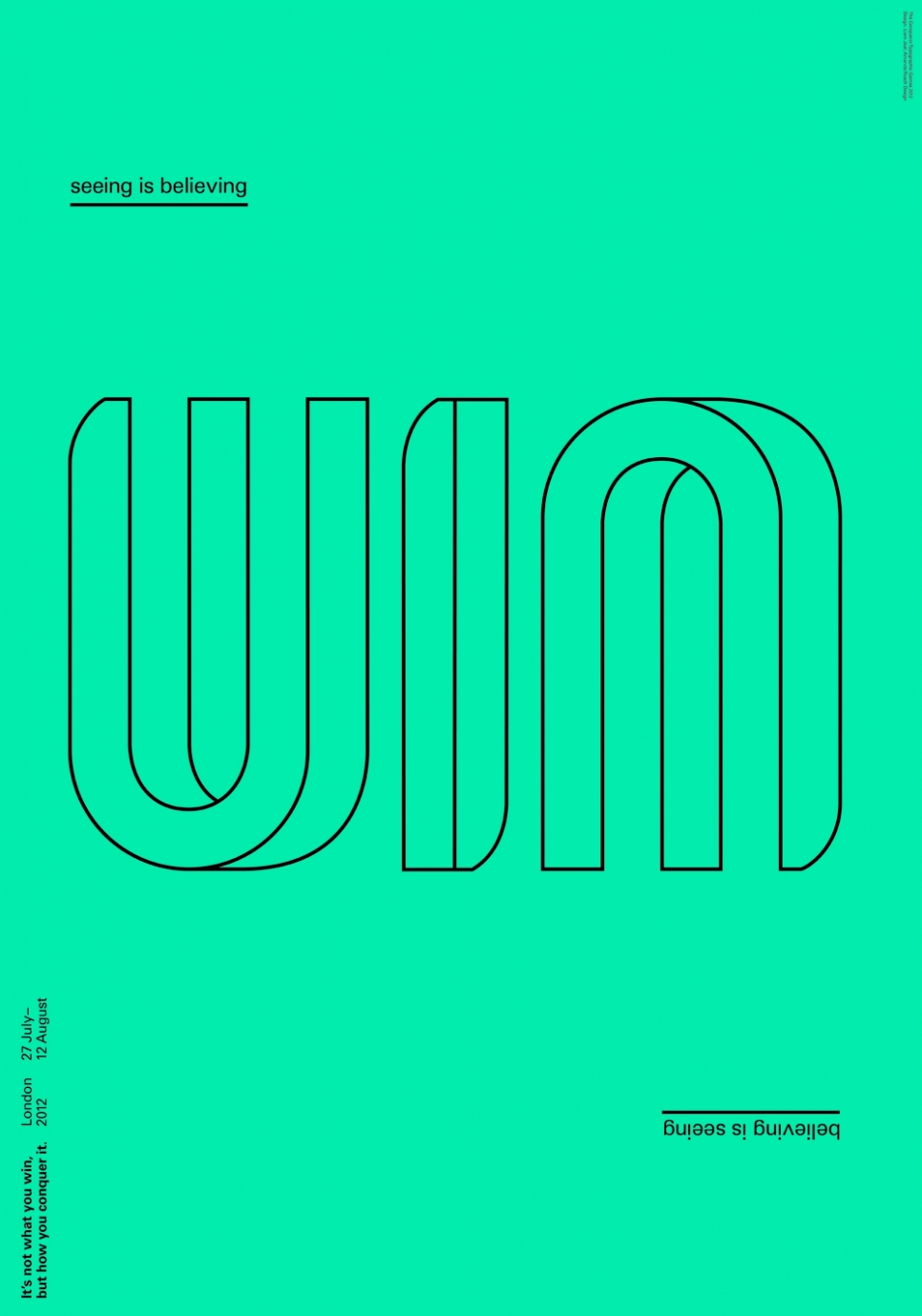 Typographic Games winning poster made by Liam Jeal