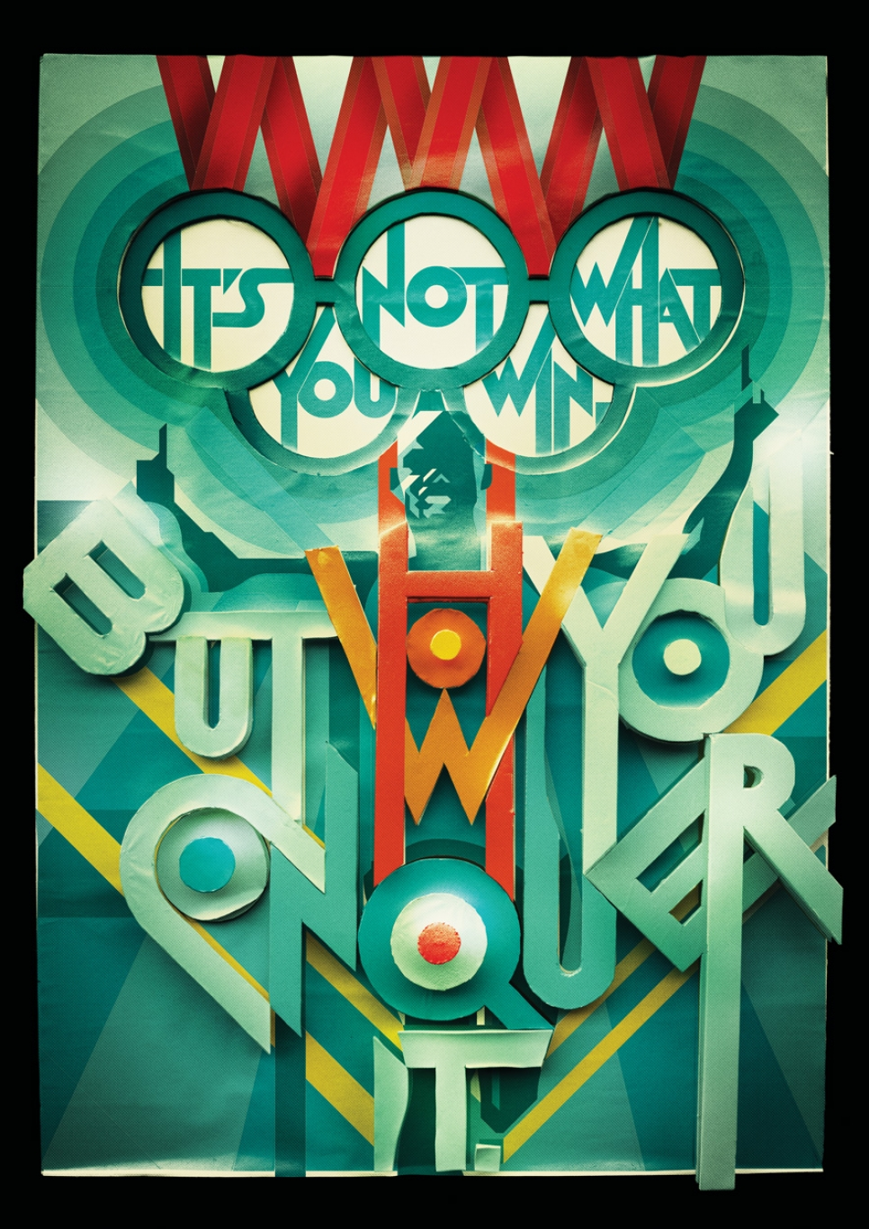 Typographic Games winning poster made by Charles Williams