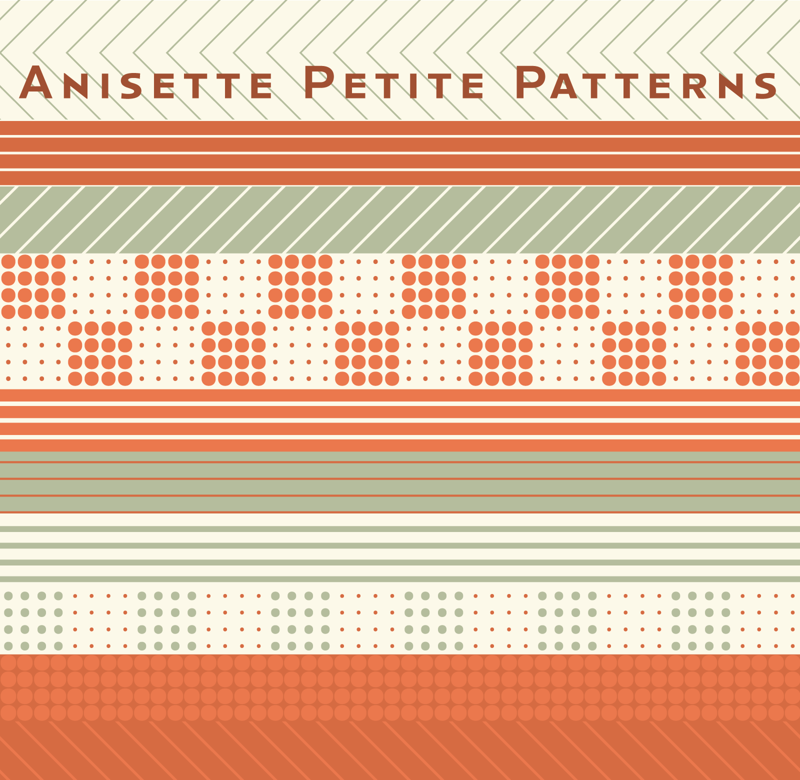 Anisette Petite patterns and borders in action