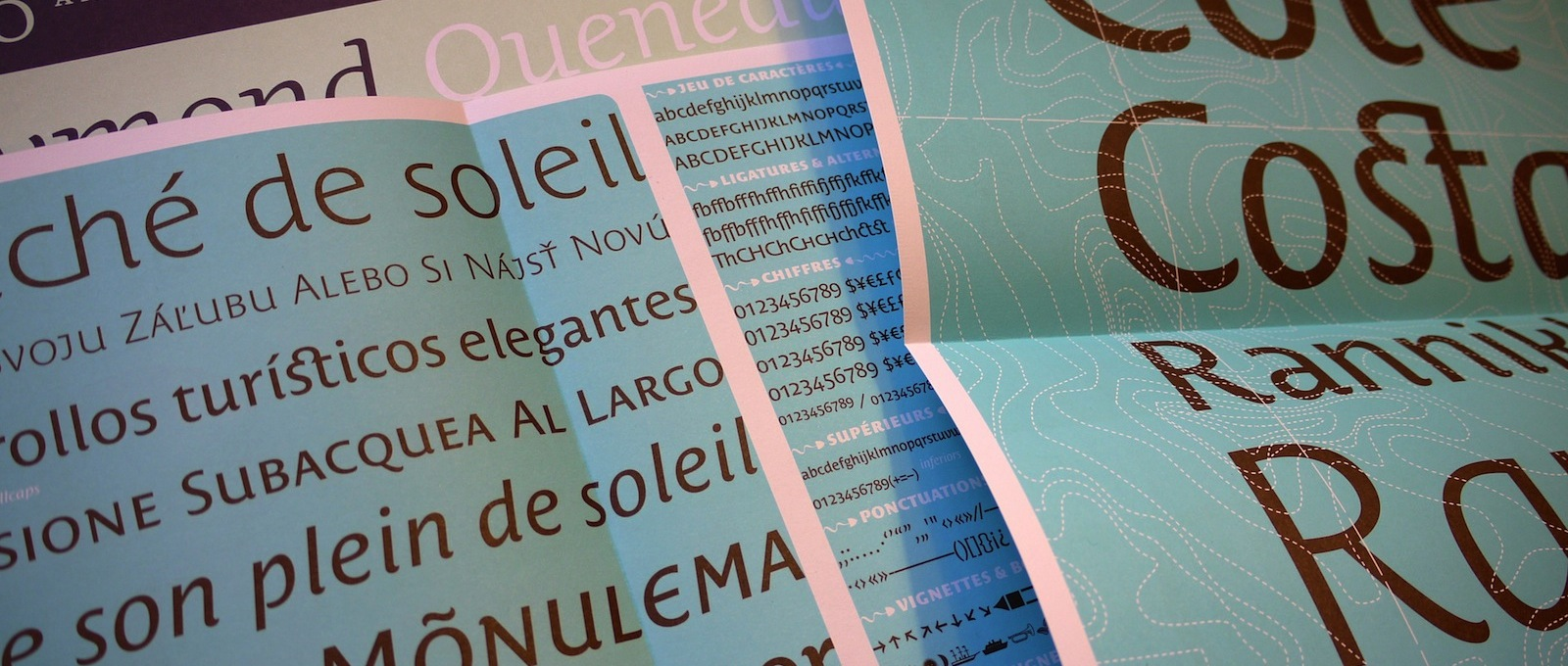 Costa typeface specimen, designed by Tiffany Wardle