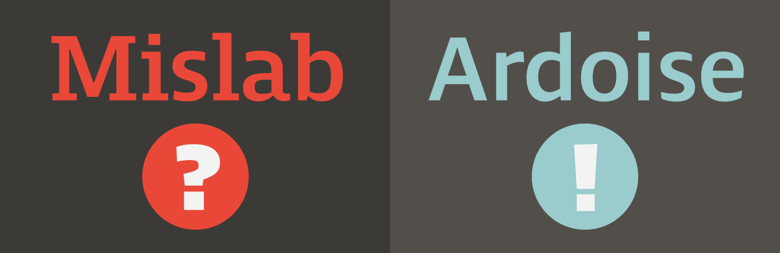 Time to choose between Mislab and Ardoise typefaces from Typofonderie