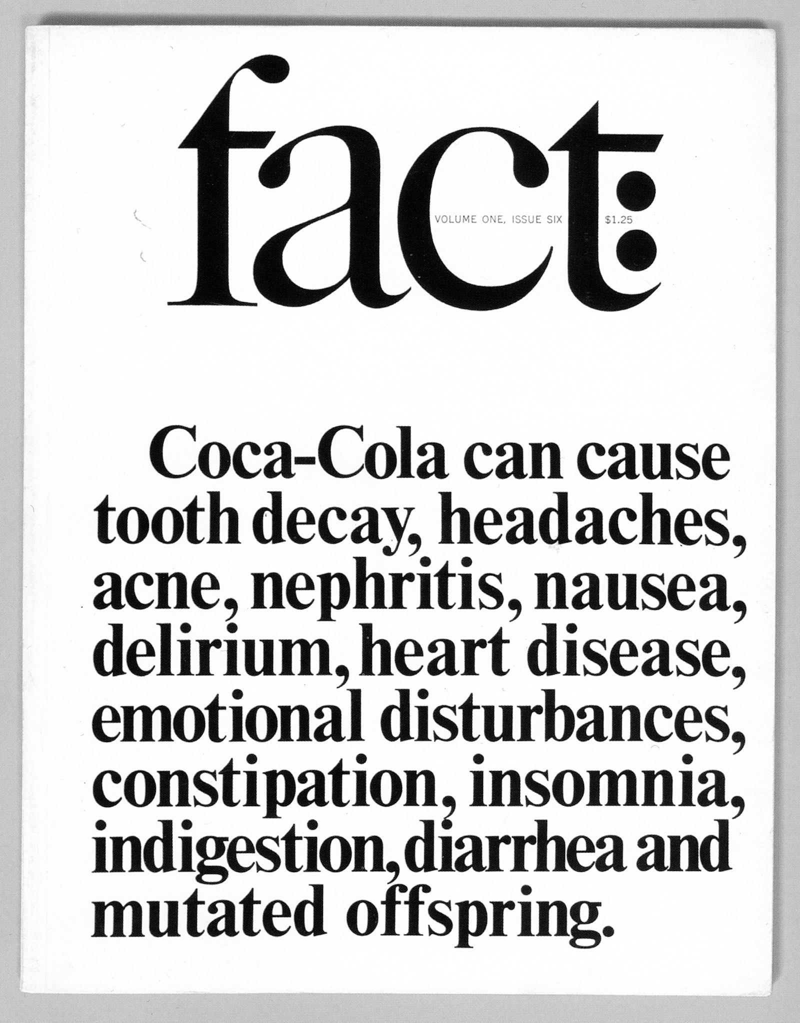 Fact, volume one, issue six, winter 1964 design Herb Lubalin