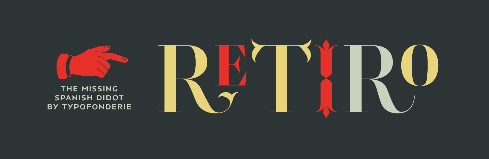 Retiro, a Full of life Hispanic Didot in 5 optical sizes exclusively available at Typofonderie