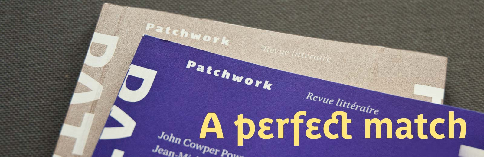 Patchwork, a literary review set in Parisine Plus
