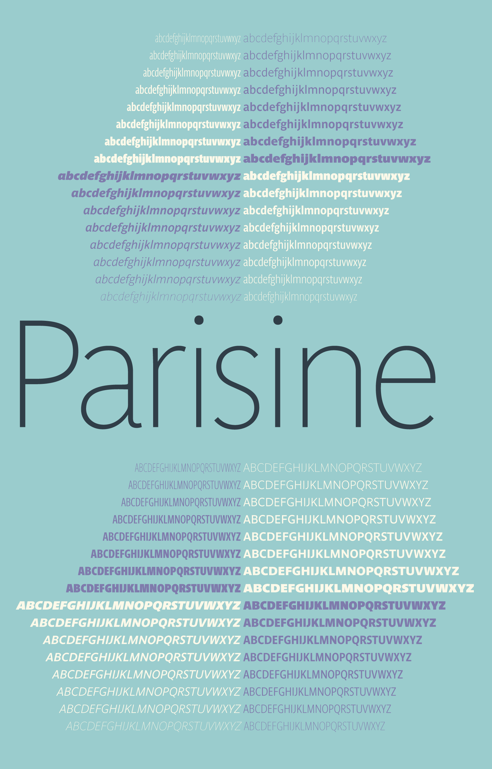 Parisine: Narrow and Compressed families by Jean Francois Porchez