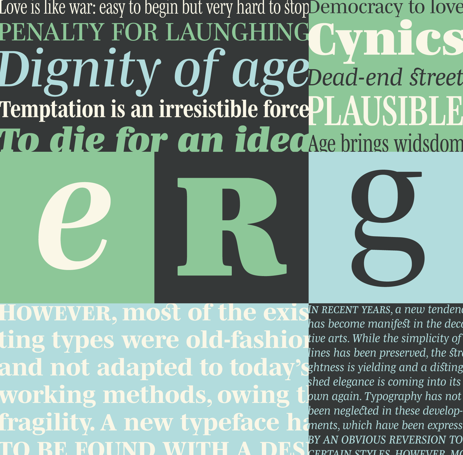 Mencken: An American Scotch typeface remixed à la française in 63 styles