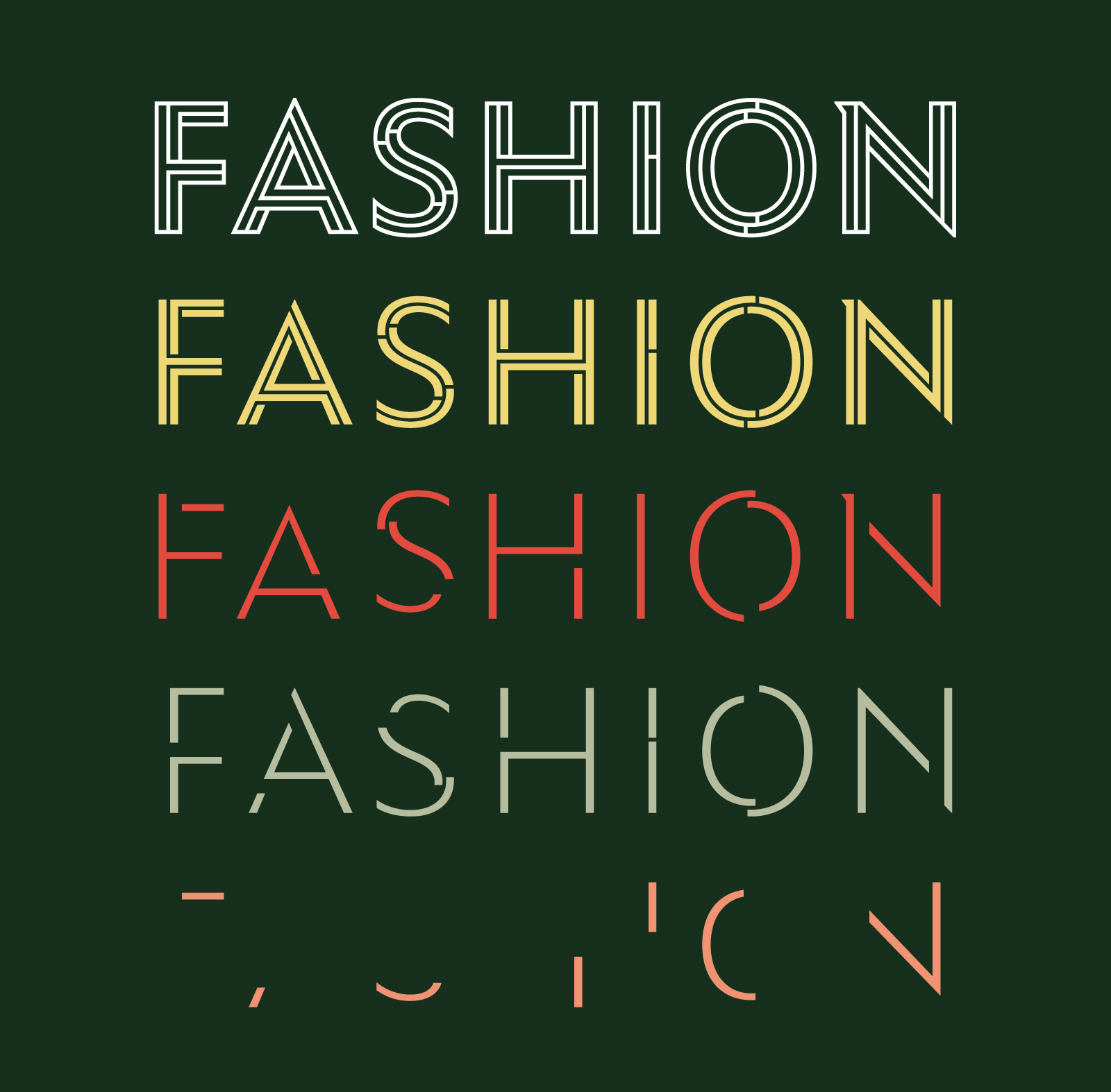 Ysans, fashion style meets typography in 24 styles