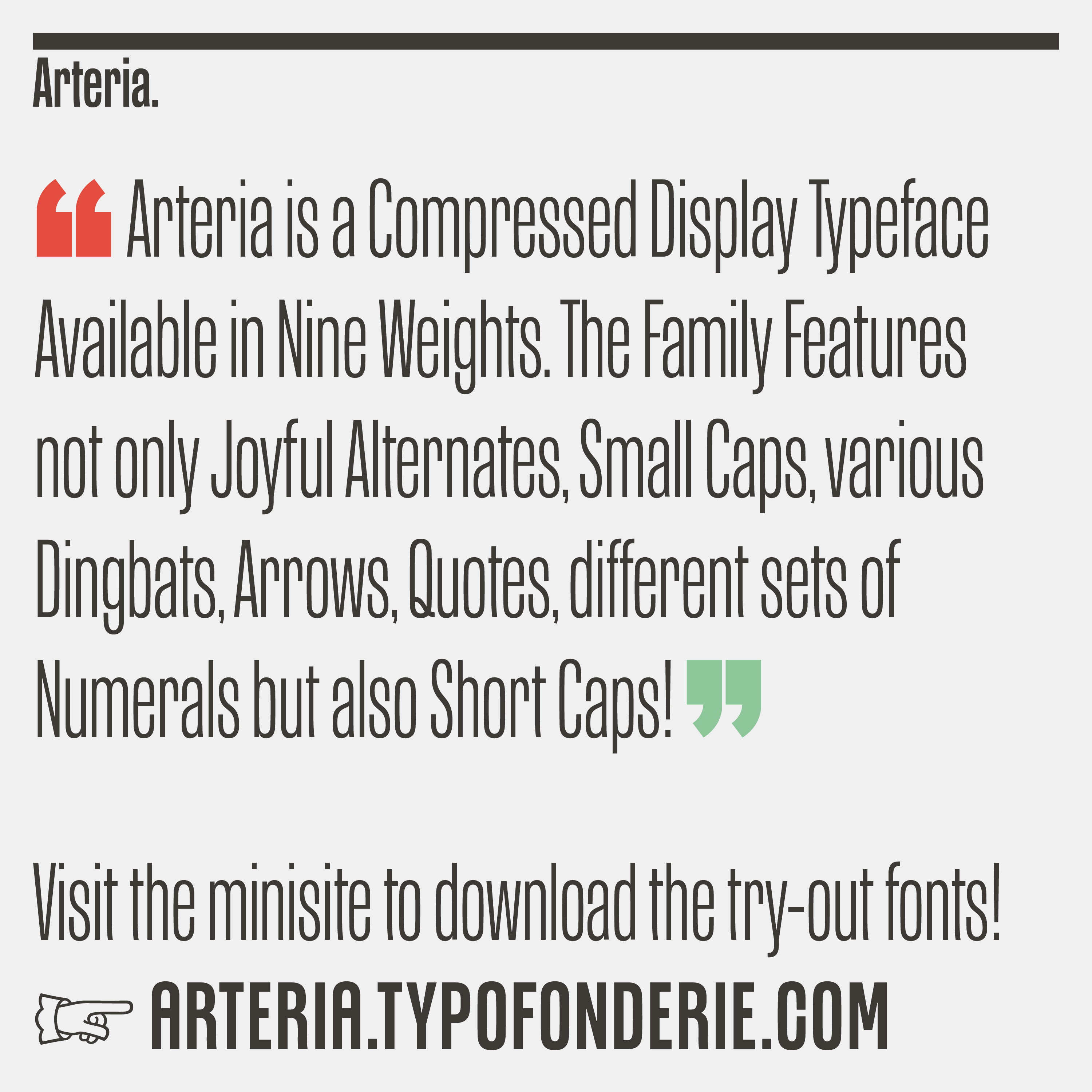 Arteria, inspired by Italian shop signs & woodtype tradition by Jean François Porchez