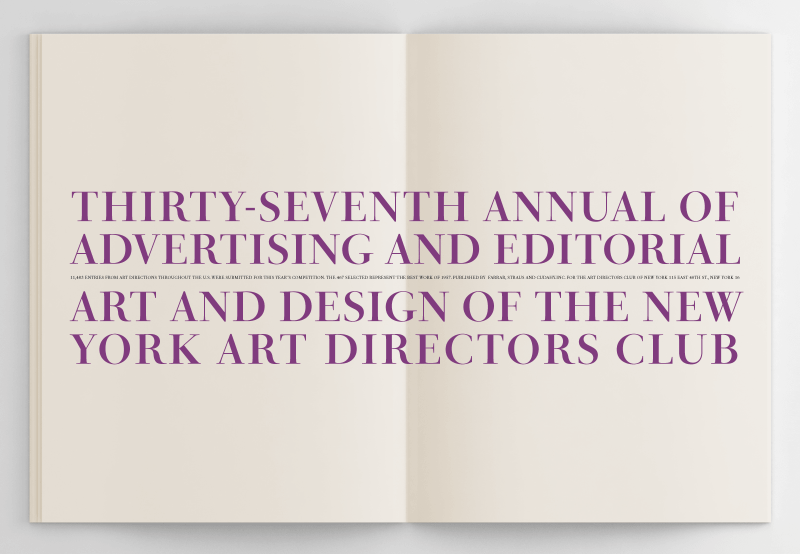 Project: ADC 37th Annual of Advertising by Herb Lubalin, George Lois