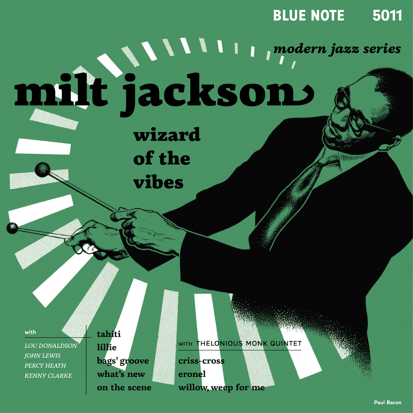 FontsinUse: Milt Jackson Blue Note album cover set in Basco