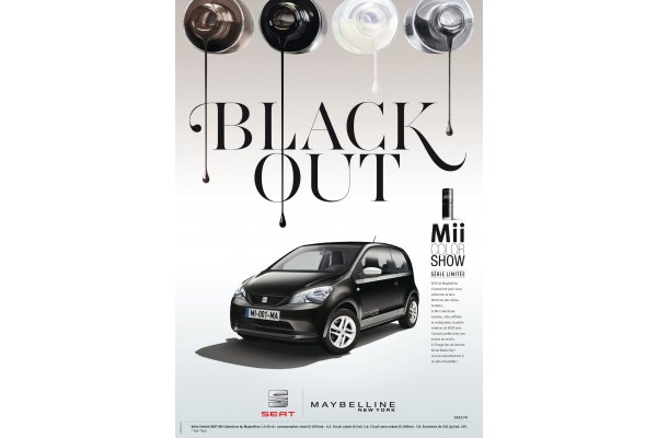 Seat Maybelline: Black out