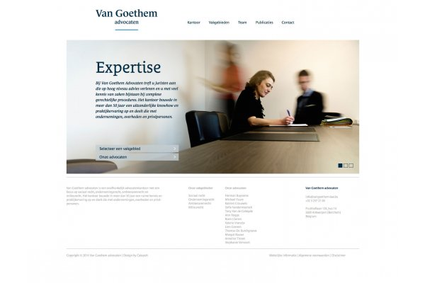 Van Goethem Law corporate identity