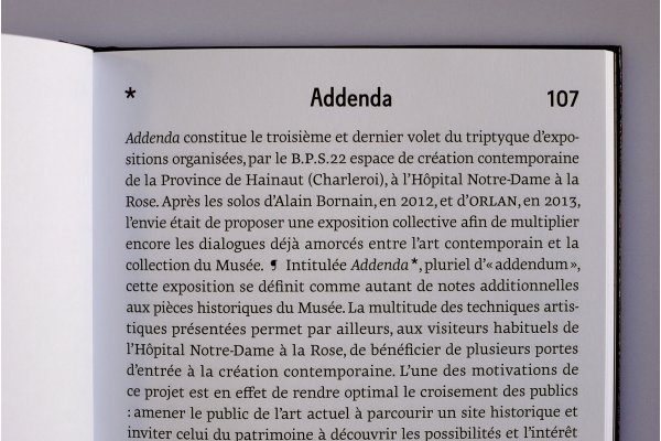 Addenda, catalog