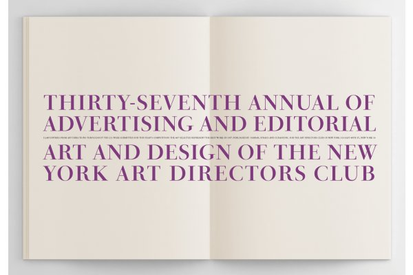 The ADC 37th Annual of Advertising set in PS Fournier