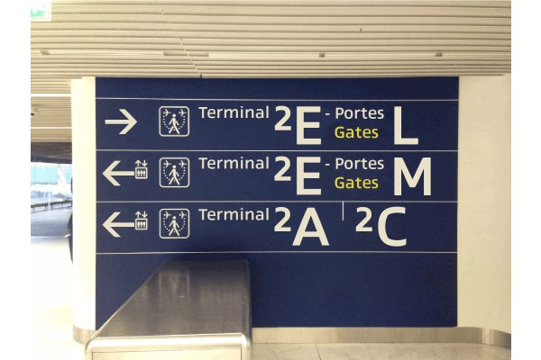 Cover version of Roissy Charles de Gaulle airport signag